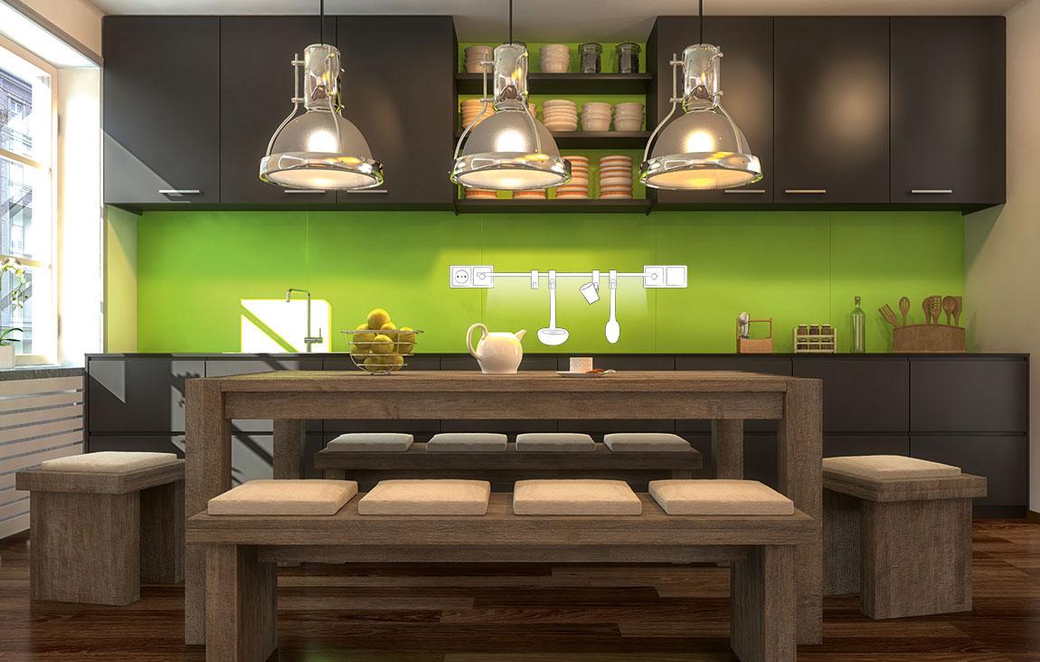 qles style k chen und gardinenstange qles gmbh. Black Bedroom Furniture Sets. Home Design Ideas
